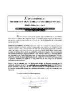 CIRCULAR Nº 3 2014-15 – PROHIBICION DE ACUDIR A LA SEGURIDAD SOCIAL