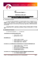 FCYLF – Circular nº 1 2018-19 Plan competicional