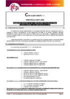 FCyLF – Circular nº 1 2019-20 Plan competicional de fútbol