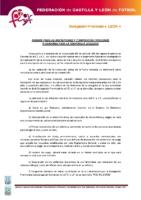 LEÓN Normas inscripciones temporada 2015-16 y composición de categorías y divisiones
