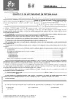 MODELO DE CONTRATO PRIMER ENTRENADOR TERRITORIAL FUTBOL SALA