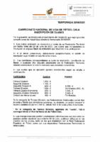 RFEF – Circular nº 1 2019-20 Fútbol Sala – Campeonato Nacional de Liga Fútbol Sala Inscripción de clubes