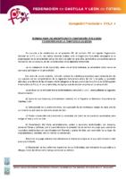 ÁVILA Normas inscripciones temporada 2015-16 y composición de categorías y divisiones