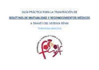 GUÍA PRÁCTICA TRAMITACIÓN DE BOLETINES MUTUALIDAD Y RECONOCIMIENTOS MÉDICOS 20-21