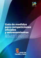 GUIA DE MEDIDAS PARA COMPETICIONES FEDERADAS ÁMBITO AUTONÓMICO. ÚLTIMA VERSIÓN