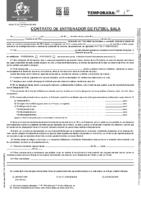 Modelo Contrato de Entrenador de Fútbol Sala FCyLF