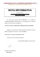 TELÉFONO DE URGENCIA – NOTA INFORMATIVA 2020-2021