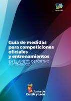 GUÍA ACTUALIZADA MEDIDAS PARA COMPETICIONES OFICIALES Y ENTRENAMIENTOS JCYL