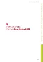 PRESUPUESTO FCyLF 2021