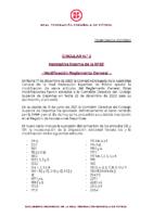 RFEF – CIRCULAR Nº 2  2021/22 –  Normativa interna de la RFEF. Modificación del Reglamento General.