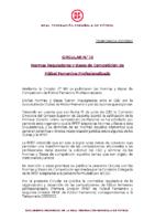 RFEF – CIRCULAR Nº 10 2021/22 – Normas Reguladoras y Bases de Competición de Fútbol Femenino Profesionalizado para la temporada 2021/2022