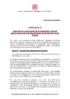 RFEF – CIRCULAR Nº 6 2021/22 – Exención en la aplicación de la Disposición General Quinta de las Normas Reguladoras de División de Honor Juvenil