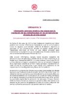 RFEF – CIRCULAR Nº 8 2021/22 – Información adicional relativa a los plazos para la inscripción de los clubes/equipos en las competiciones oficiales de ámbito estata